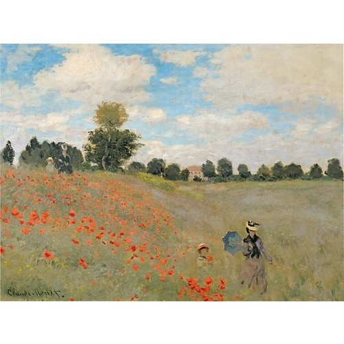 Wild Poppies Near Argenteuil by Claude Monet, 24x32-Inch Canvas Wall Art [24x32-Inch]