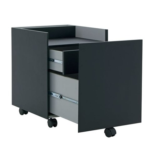 Offex Niche File Cabinet Gray - Black