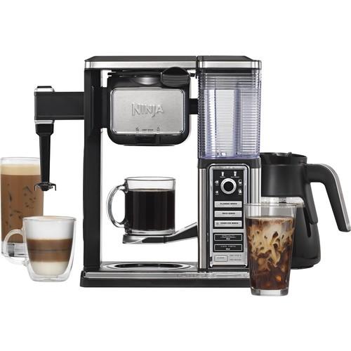 Ninja - Coffee Bar 10-Cup Coffeemaker - Black/Stainless