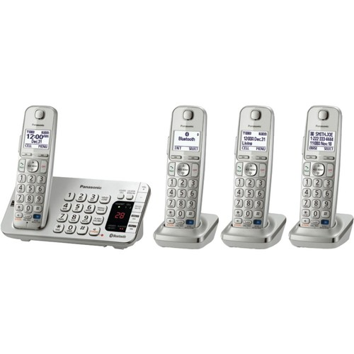 Panasonic Link-to-Cell Bluetoot KX-TGE274S Cellular Convergence Solution; 4 Handset System