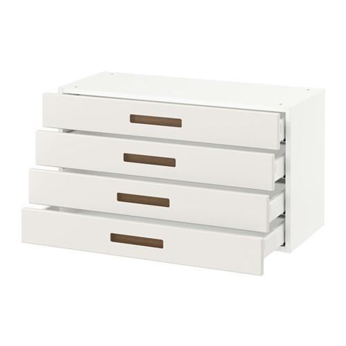 SEKTION Wall cabinet with 4 drawers, white Maximera, Hggeby white