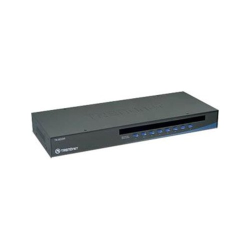 TRENDnet 8-Port USB/PS2 Rack Mount KVM Switch, VGA & USB Connection, Supports USB & PS/2, Device Monitoring, Auto Scan, Audible Feedback, Control up to 8 Computers/Servers, TK-803R [8 Port Rack Mountable, VGA USB/PS2]