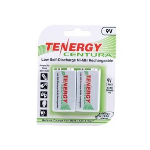 Tenergy Centura 9V 200mAh Low Self-Discharge NiMH Rechargeable Batteries (2pcs card)