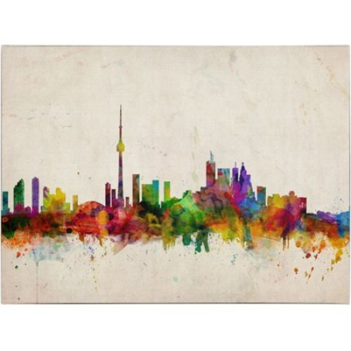 Toronto Skyline by Michael Tompsett, 16 by 24-Inch Canvas Wall Art [16 by 24-Inch]