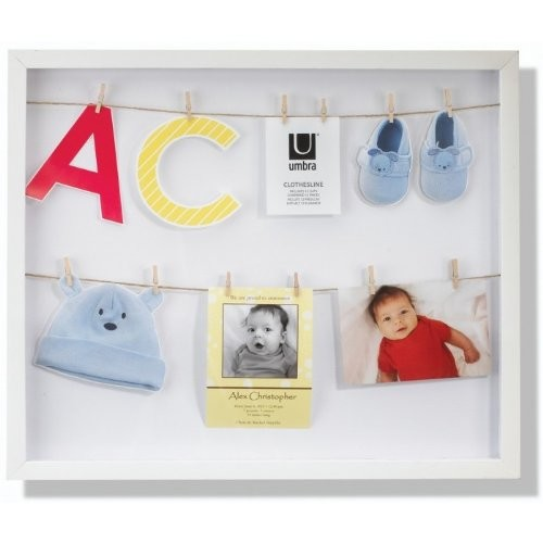 Umbra Clothesline Shadowbox Picture Frame [White]