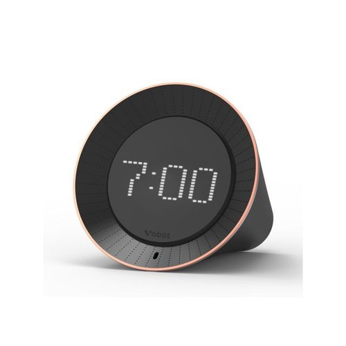 Vobot Smart Alarm Clock Speakers with Amazon Alexa Voice Service WiFi 3.5mm AUX Out LED Display Black