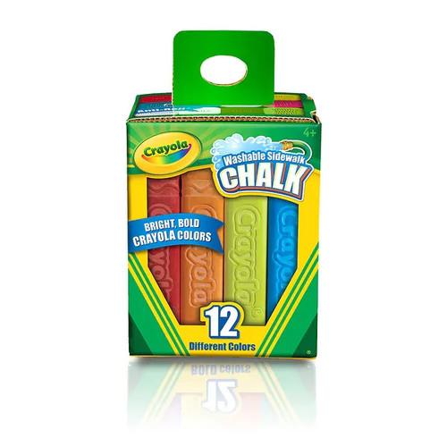 Crayola LLC Learning & Educational Toys Crayola Washable Sidewalk Chalk 12