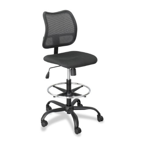 Safco Products 3395BL Vue Extended Height Mesh Chair (Optional arms sold separately), Black
