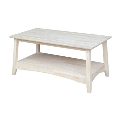 International Concepts Bombay Unfinished Coffee Table