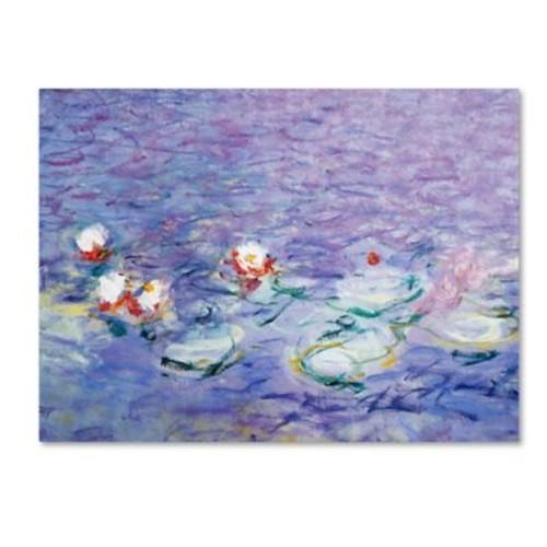 Trademark Fine Art 'Water Lilies II 1840-1926' 35