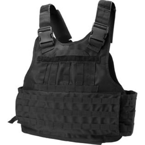 Barska BI12260 VX-500 Customizable Loaded Gear Black Plate Carrier Tactical Vest