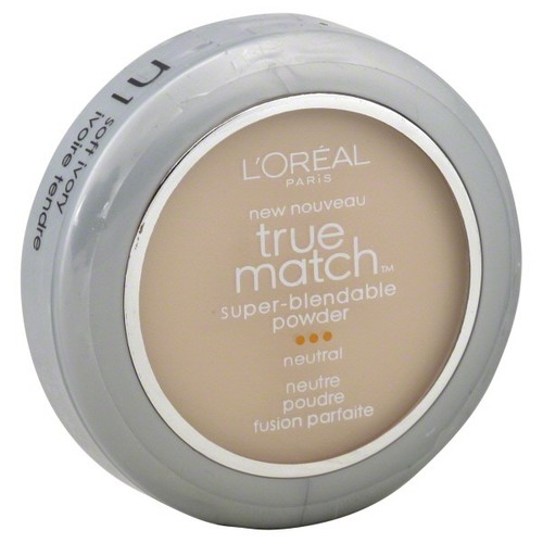 L'Oreal True Match Super-Blendable Powder, Neutral, Soft Ivory N1, 0.33 oz (9.5 g)