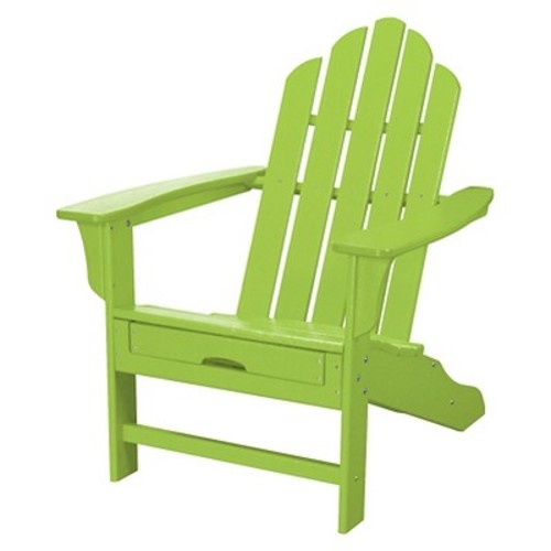 Hanover - All-Weather Adirondack Chair with Ottoman - Lime