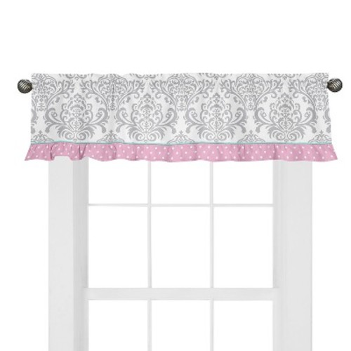 Sweet Jojo Designs Skylar Window Valance - Pink