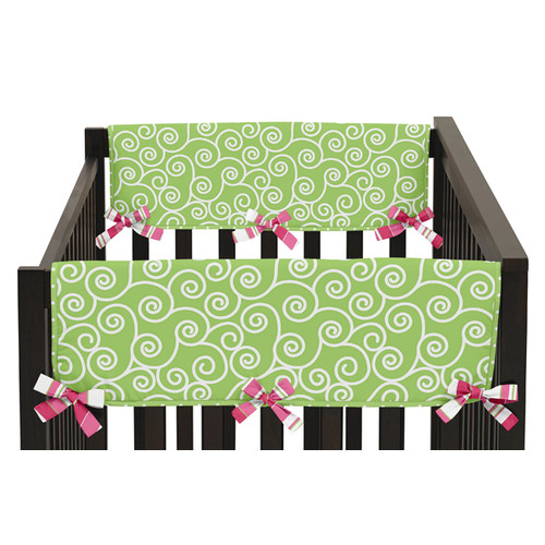 Sweet Jojo Designs Side Crib Rail Guard Covers for the Olivia Collection by