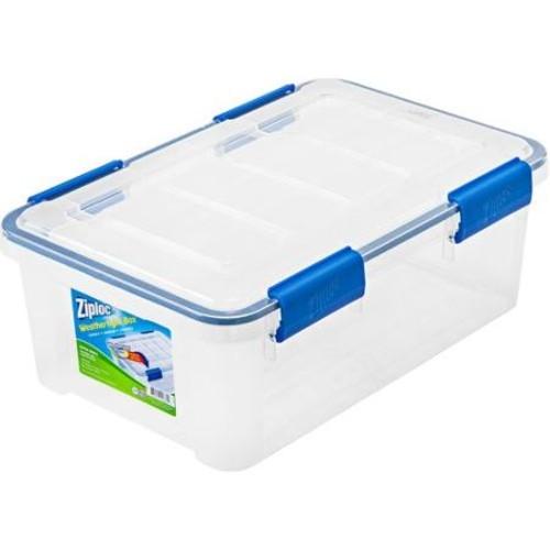 Ziploc 16 Qt. Extra Small WeatherShield Storage Box, Clear