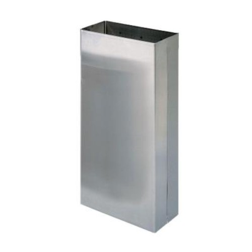 Stainless Solutions Wall-Mounted Large Towel Waste Bin in Stainless Steel
