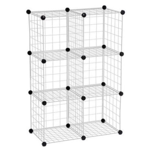 Honey-Can-Do 6-Pack Modular Mesh Storage Cube, Silver