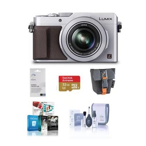 Panasonic Lumix DMC-LX100 Digital Camera with Free Accessories, Silver DMC-LX100S A