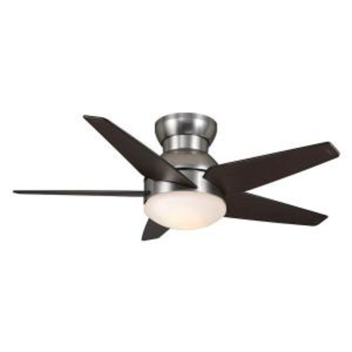 Casablanca Isotope 44 in. Indoor Brushed Nickel Ceiling Fan with Light