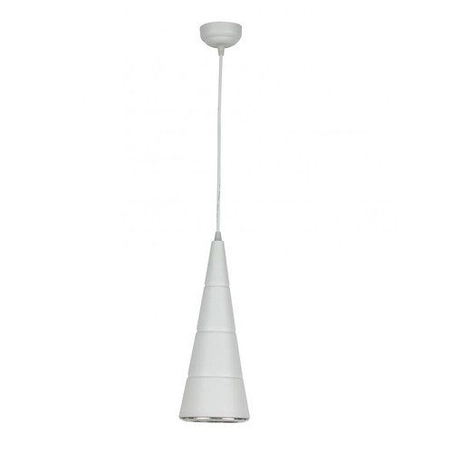 One Light White Led Cone Black Glass Down Mini Pendant