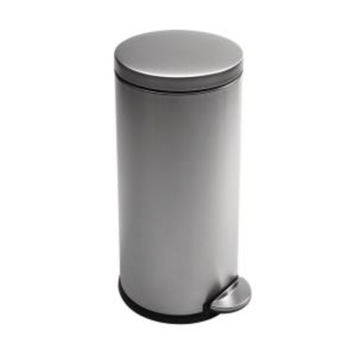 simplehuman 30-Liter Fingerprint-Proof Brushed Stainless Steel Round Step-On Trash Can