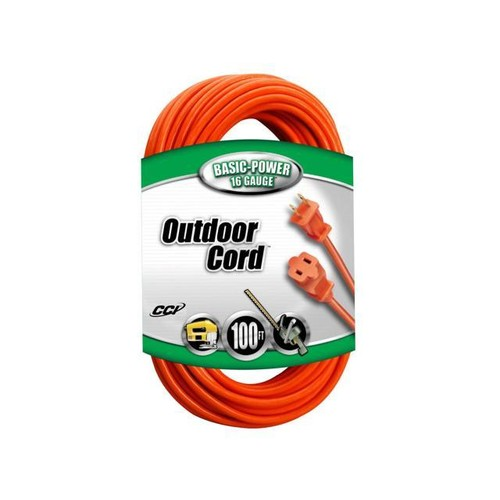 Coleman Cable COL-647247 Outdoor Round Extension Cord 2 Wire 16/2 100 Ft.