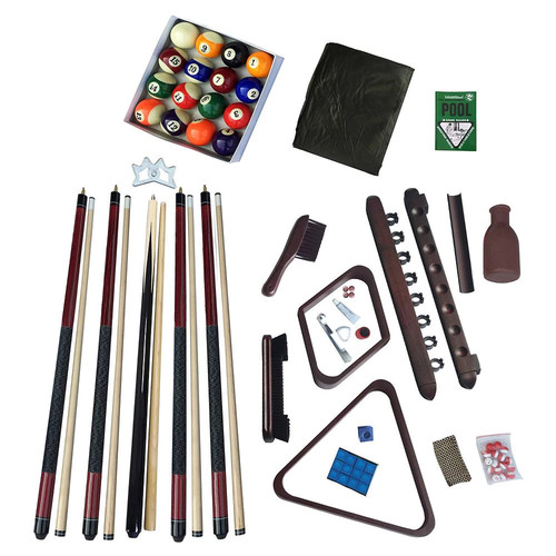 Hathaway Deluxe Billiards Accessory Kit with Mahogany Finish