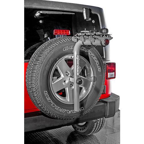 SportRack SR2813 Pathway Spare Tire Deluxe 3 Rear Mount Bike Carrier - Granite Gray
