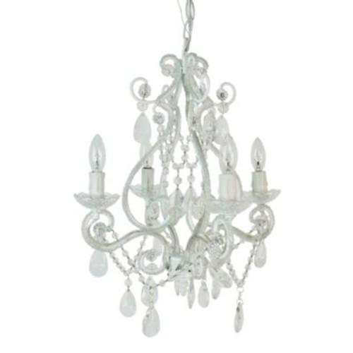 Tadpoles by Sleeping Partners 4-Bulb Mini Chandelier in White Diamond
