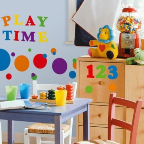 RoomMates Peel and Stick Wall Decals - Primary Numbers