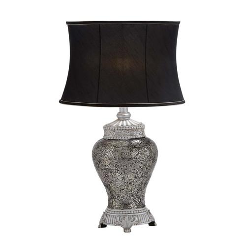 Silver Mosaic Glass Jar Table Lamp