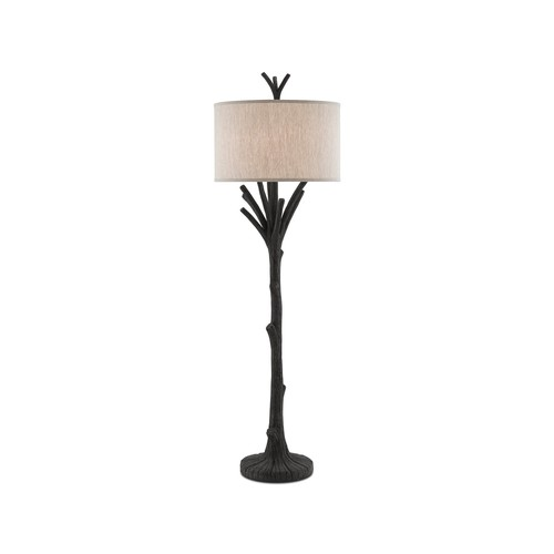 Arboria Floor Lamp in Black design by Currey & Company