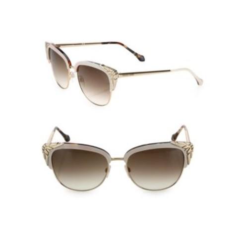 56MM Gradient Cat Eye Gradient Sunglasses