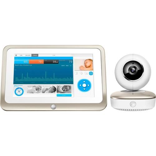 Motorola - Smart Nursery Wi-Fi 1080p Video Baby Monitor with 7
