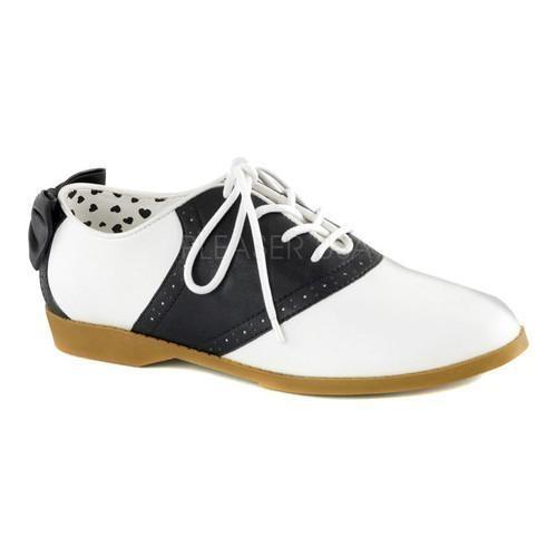 Women's Funtasma Saddle 53 Saddle Shoe Black/White Polyurethane