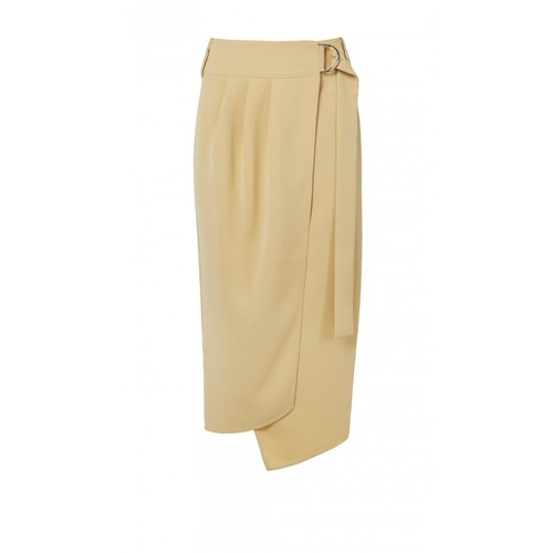 TIBI Drape Twill Wrap Skirt