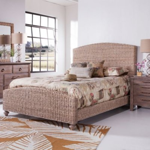 Palmetto Home Panama Jack Driftwood King Woven Bed in Grey