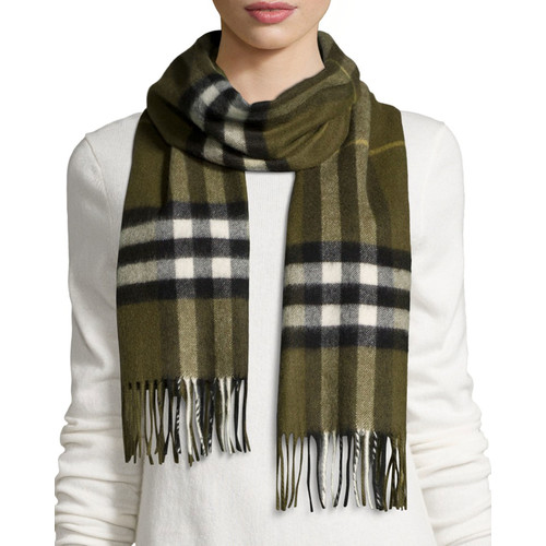 BURBERRY Giant-Check Cashmere Scarf