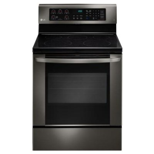 LG Electronics 6.3 cu. ft. Electric Range with EasyClean Convection Oven in Black Stainless Steel