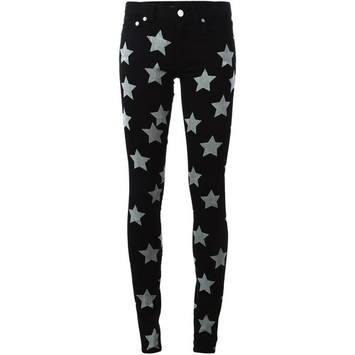 SAINT LAURENT Star Print Jeans