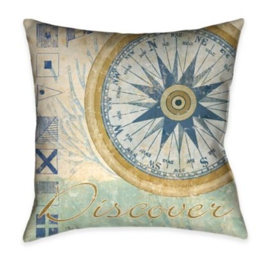 Laural Home Mariner's Sentiment IV Square Throw Pillow