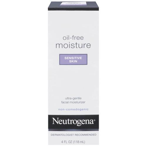 Neutrogena Facial Moisturizer, Oil-Free Moisture, Sensitive Skin, 4 fl oz (118 ml)