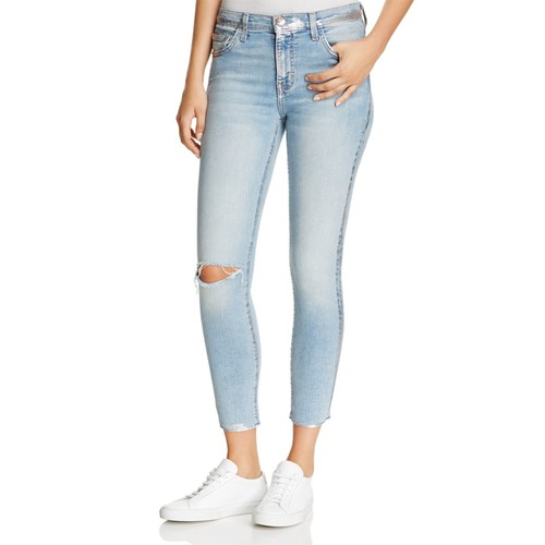 CURRENT/ELLIOTT The Stiletto High-Rise Cropped Jeans In Seville Destroy