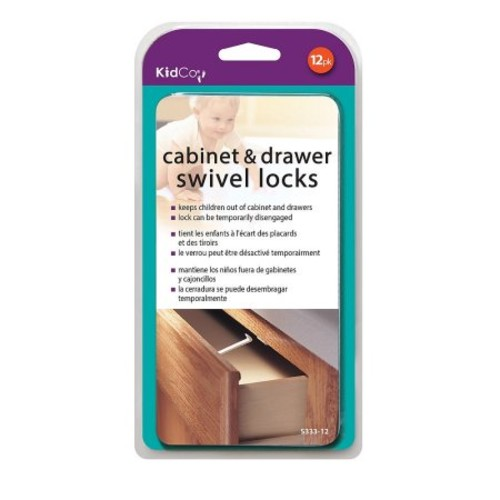 KidCo 12 Pack Swivel Cabinet and Drawer Locks