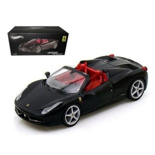 Hot wheels Ferrari 458 Italia Spider Black Elite Edition 1-43 Diecast Car Model (DTDP2463)