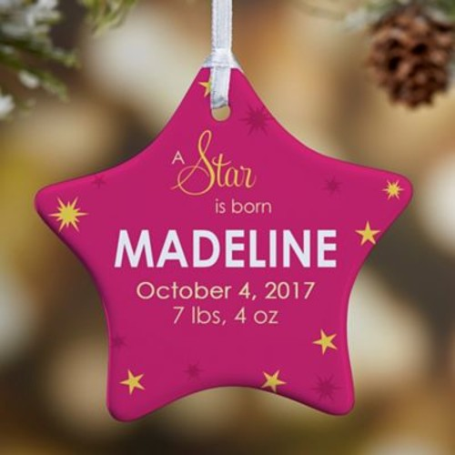 1-Sided A Star Is Born Christmas Ornament