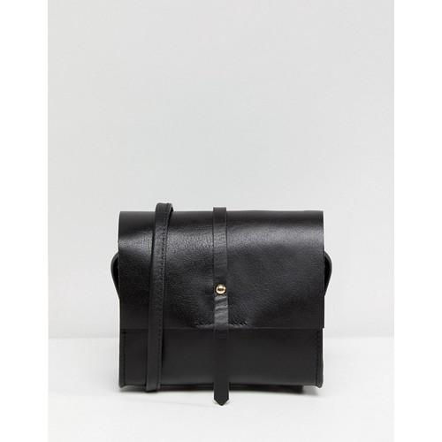 ASOS Leather Clean Mini Structured Cross Body Bag