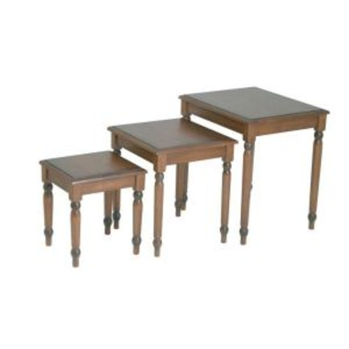 OSPdesigns Knob Hill Antique Cherry 3-Piece Nesting End Table