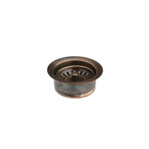 Elkay LKD35AC Antique Copper Disposer Flange Fitting with Removable Basket Strainer and Rubber Stopper [Antique Copper]